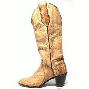 Justin Women's Full EEL SKIN Heeled Boots 4403